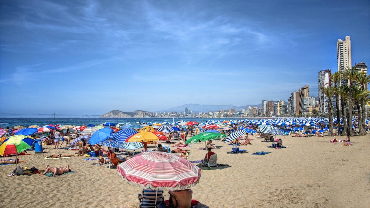 Bilde av Levante-stranden i Benidorm