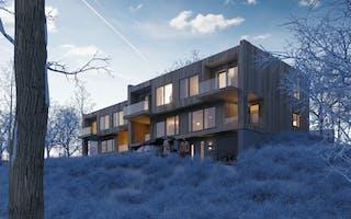 3D-tegning av boligprosjekt