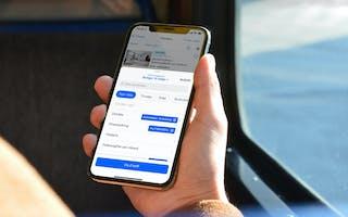 Mobil viser filtrering i FINN-appen