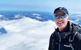 Erik Aasmundtveit på skitur i Silkedalen på Rauland
