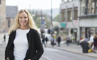Mona Andreassen i bybildet