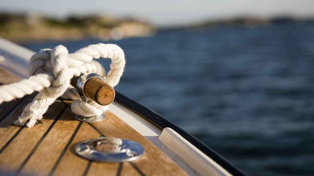 Båt med tau