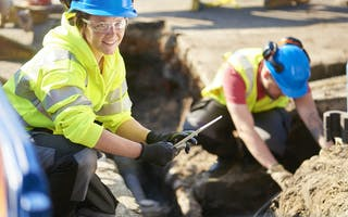 Ingeniører på byggeplass