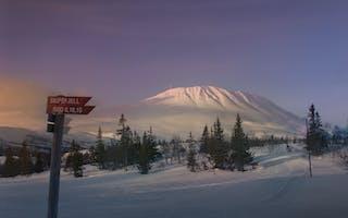 Gaustatoppen - skiferie på taket av Telemark