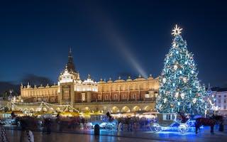 Opplev julemarkedet i Krakow