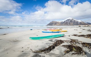 Eldorado for surfere i Lofoten