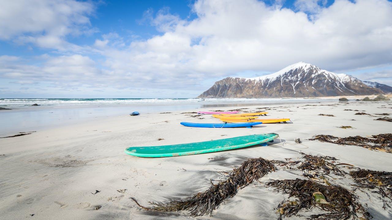 Eldorado for surfere i Lofoten