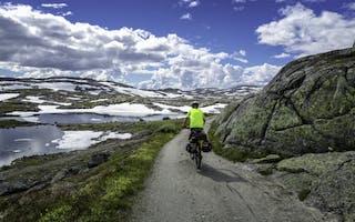 På sykkel langs Rallarvegen