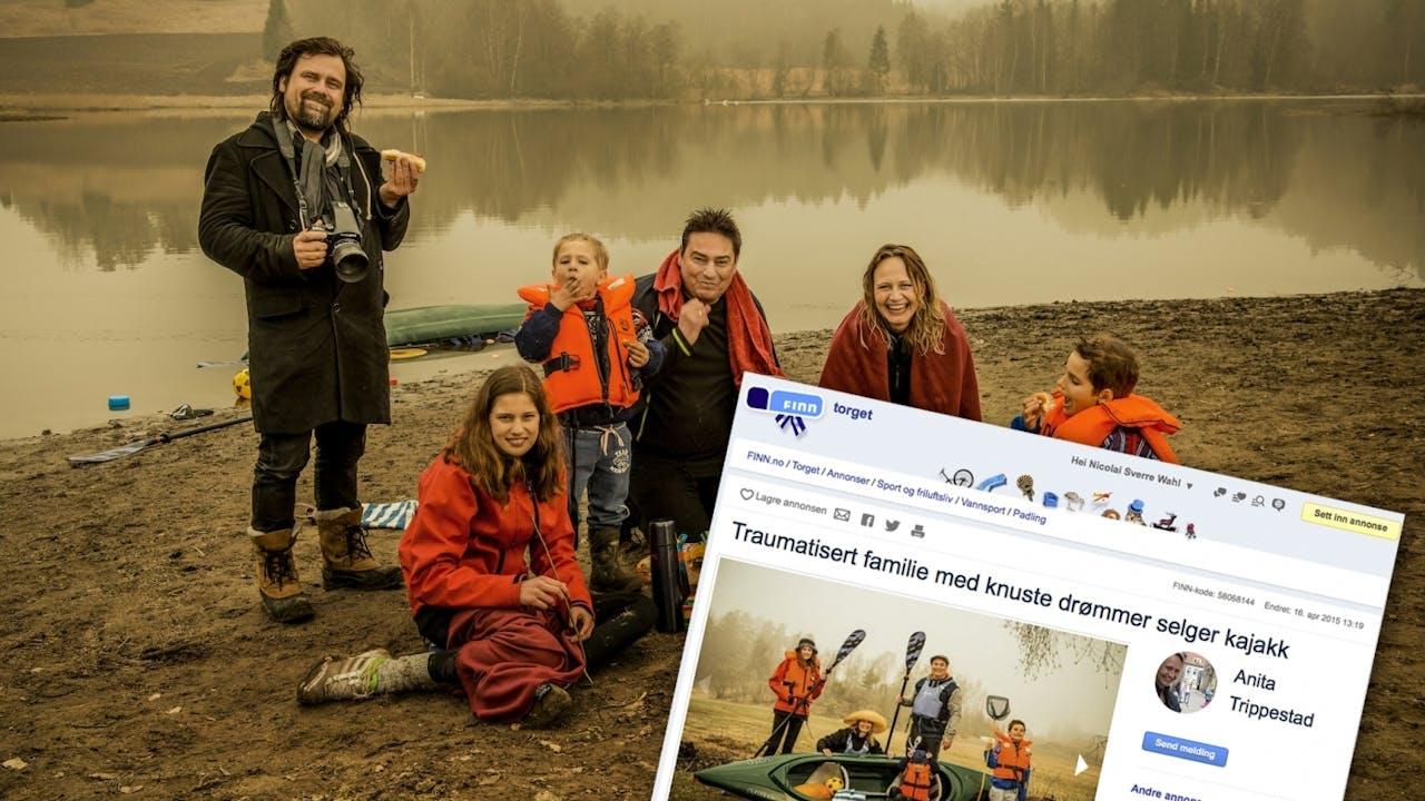 Fotoshoot med Per Heimly får folk til å smile