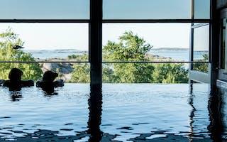 Utsikt fra Spa-hotellets basseng